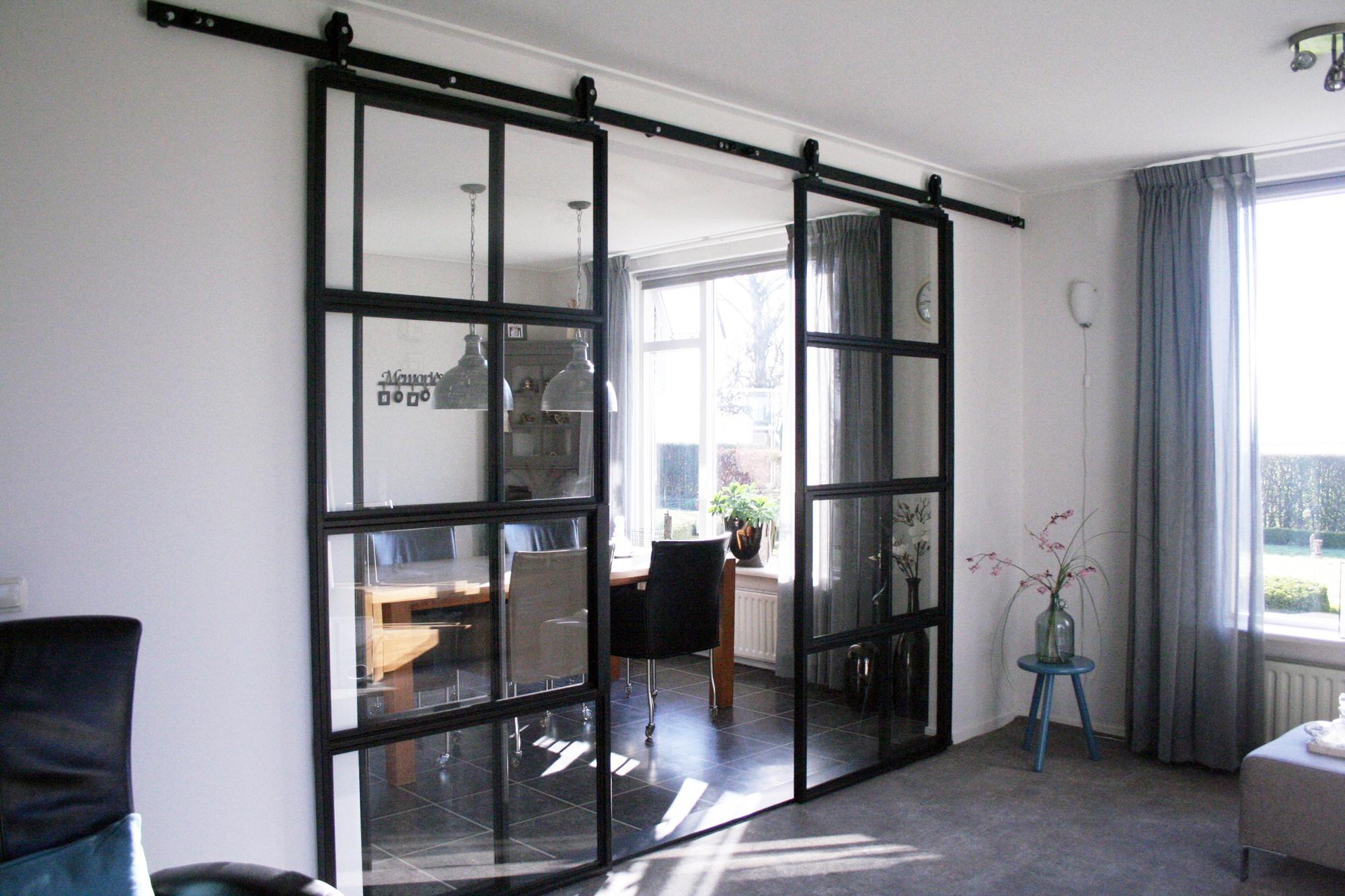 Stalen deuren projecten atzori design for Schuifdeuren woonkamer